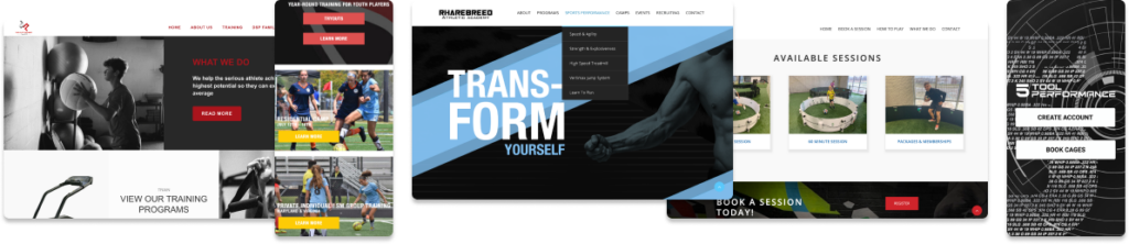 custom fitness websites, sports websites