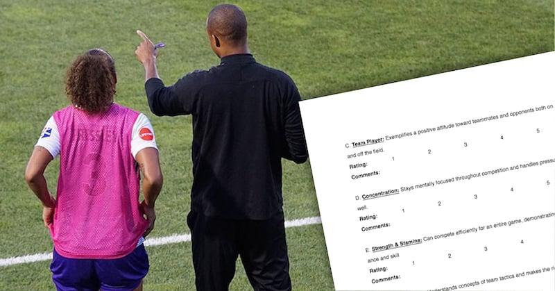 athlete evaluation template