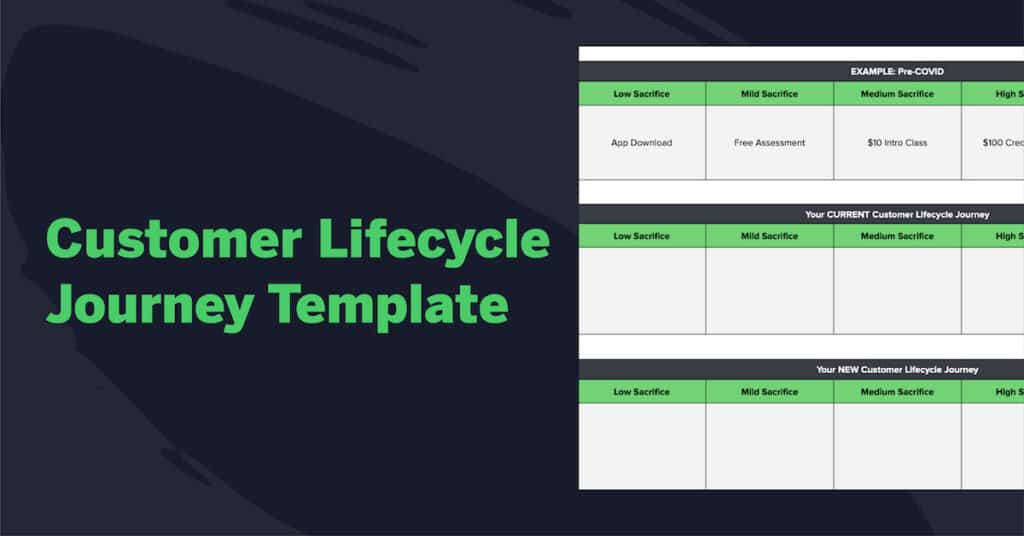 customer lifecycle journey template worksheet