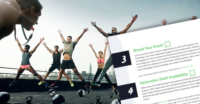 checklist for planning sports events