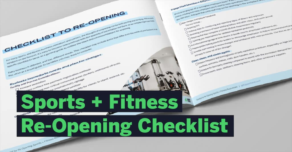 re-opening checklist for sports and fitness businesses