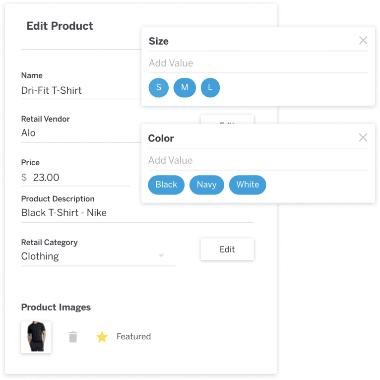 Retail software product variant