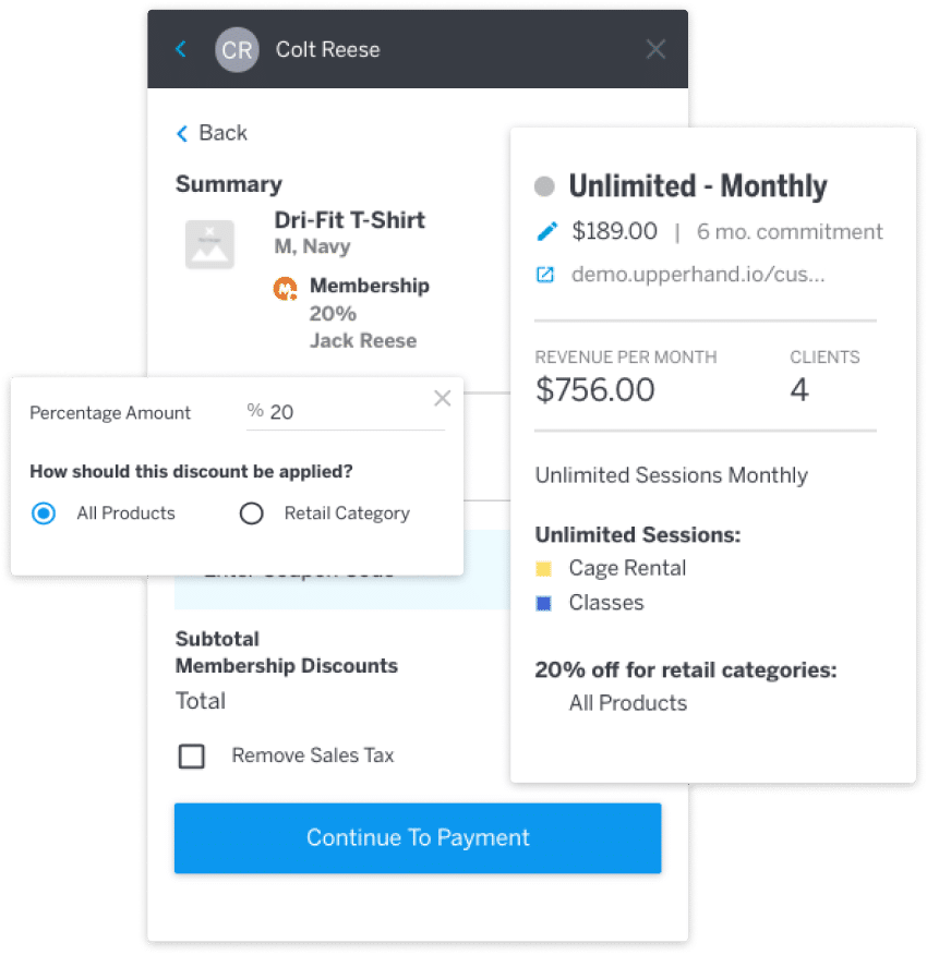 Retail Membership Software Payment