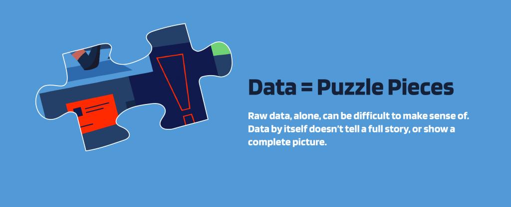 data = puzzle pieces